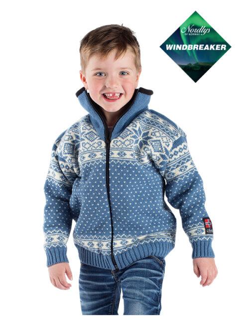 Nordlys «Mønstret» jakke med Windbreaker