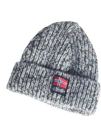 """Nordlys """"Lofoten"""" strikket ull lue mørk grå."""