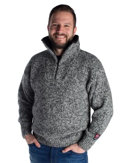 """Nordlys """"Lofoten"""" strikket genser for dame og herre."""