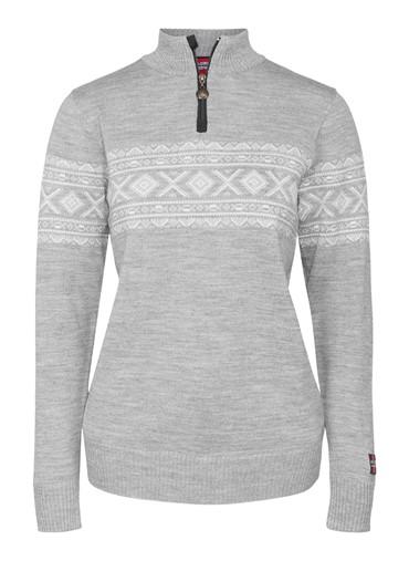 """Nanna"" strikket genser dame grå."