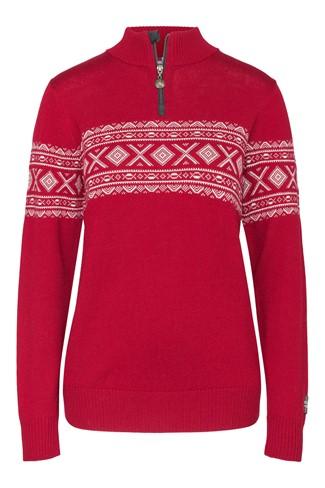 """""""Nanna"""" strikket genser dame rød."""
